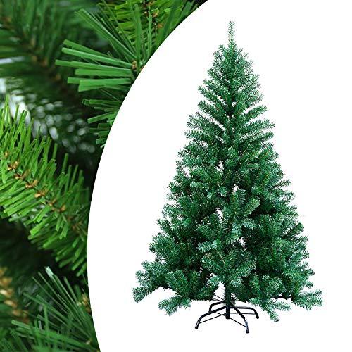 Hegnda 150cm Künstlicher Weihnachtsbaum mit 350 Äste schwer entflammbarer Tannenbaum mit Schnellaufbau Klappsysem Material PVC inkl. Ständer Christbaum - Grün Weihnachten Deko