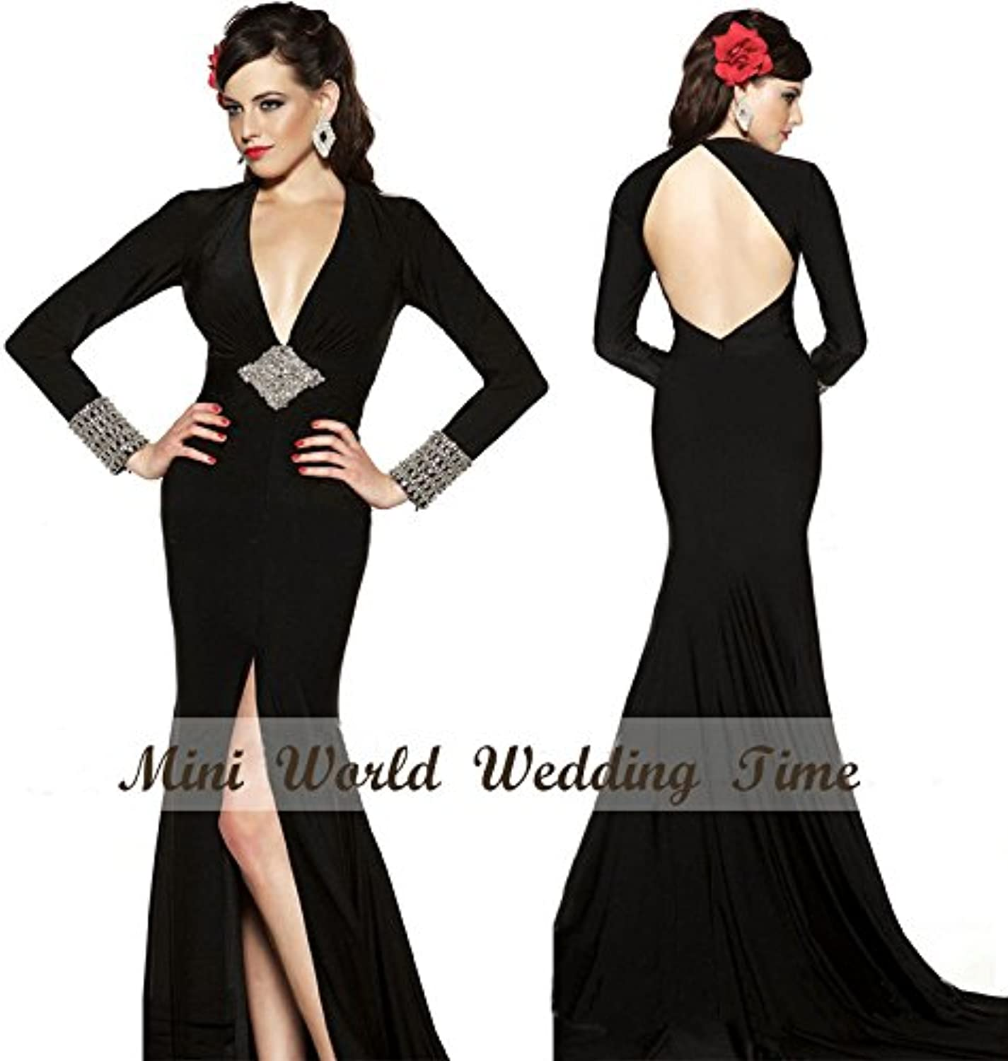 Backless Black Evening Dresses Simple and Glamgoldus Evening Dress Party Dress Or Wedding Dress