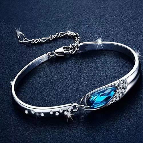 Ldudu - Pulsera de plata elegante para mujer, con 13 colgantes, joyas de San Valentín, regalo para mujeres y niñas