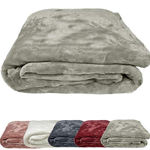 JEMIDI XL Cashmere Touch Kuscheldecke Wohn Microfaser Sofa Couch Plaid Woll Decke (Taupe)