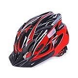 Creamon Casco de Ciclismo para Adultos, Casco de Bicicleta Ultraligero Casco de Bicicleta MTB Deportes al Aire Libre Cascos de Bicicleta de Carretera de montaña Verde-Negro Rojo-Negro