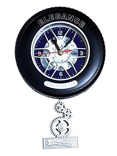 Unbekannt Autofelge Auto Reifen Wanduhr Garage Büro Uhr Clock 23cm