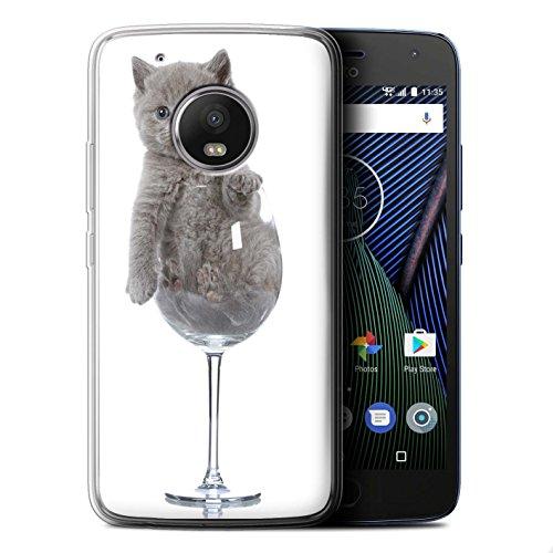 Beschermhoes/cover/case/behuizing gel/TPU/protetetiva STUFF4 bedrukt met motief Katten voor Motorola Moto G5 - wijnglas