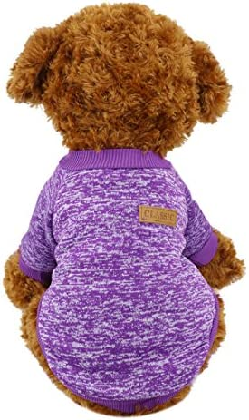 Idepet Pet Dog Classic Knitwear Sweater Fleece Coat for Small Medium Large Dog Warm Pet Dog product image