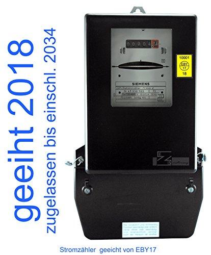 Drehstromzähler 10(60) A geeicht für Verrechnungswecke zugelassen (max. 41,4 kW) von Prüfstelle EBY17