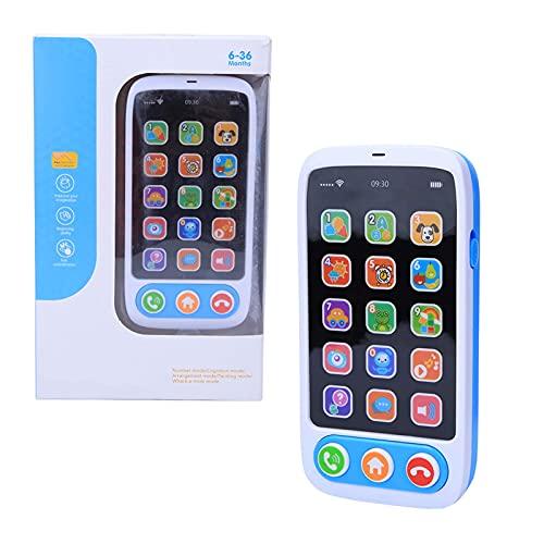 RILLATEK Total DE TELÉFONO, Play MÚSICA Aprendizaje Aprendizaje Educativo Teléfono Celular simulado Smart Phone Música Luz de Juguetes de luz para niños Niños (Rosa) (Color : Azul)