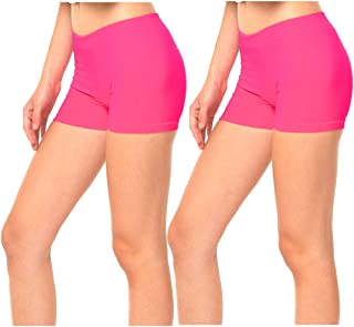 Gilbins 2 Pack Women's Seamless Stretch Yoga Exercise Shorts