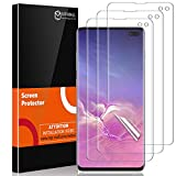 MP-MALL [3-Pack] Screen Protector for Samsung Galaxy S10 Plus / S10+ Flexible Protective Film [Installation Locator] [New Version] HD Clear