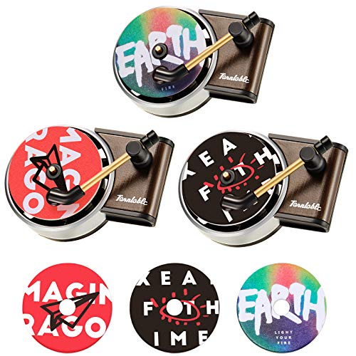 3 Pieces Record Player Car Decors Car Record Air Fresheners Perfume Vent Outlet Diffusers Car Fragrance Diffusers and 3 Pieces Aromatherapy Tablets Aromatherapy Replacement Pads for Car Home Office