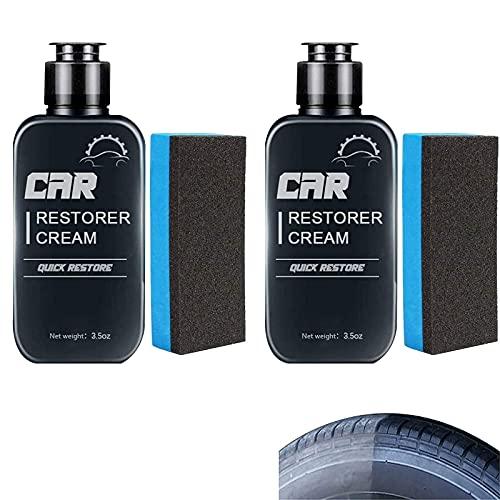 KFEK Crema restauradora de automóviles, Pasta de restauración rápida de Cuero y plástico para automóviles, Agente de reparación de reacondicionamiento de 100 ml (2 Piezas)