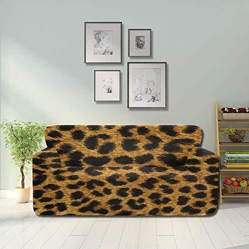 JOCHUAN Primer Plano Textura de Manchas de Leopardo Funda de sofá Suave Funda de Asiento Sofá Muebles empotrados Protector 2