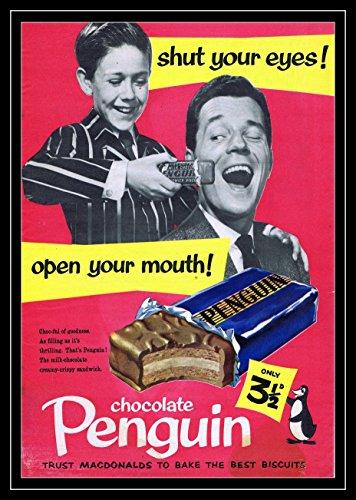 Pinguïn Poster Chocolade Bar Foto Vintage Oude Advert Artwork Klassiek Ouderwetse Commerciële
