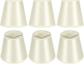 HERCHR Lot de 6 Abat-Jour, Abat-Jour à Tambour pour Lampes de Table Lustre Abat-Jour Clip sur Abat-Jour pour Applique Mura...