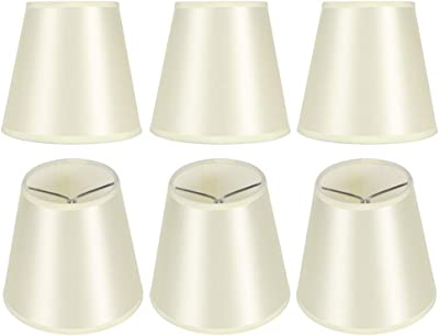 Cuque Metal + Material de Tela Pantalla Moderna Pantalla de lámpara de Mesa Pantalla de Tela para decoración del hogar Pantalla de Tela, Pantalla de 6 Piezas, para cafeterías, Salas de Estar,: