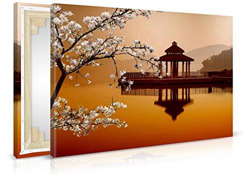Toile ASIAN Tonnelle – D 030211 – Peintures, Impression d'art, image murale, châssis, image sur toile par Trend murs, Standard : Toile intissée Châssis 2 cm, 90 x 60 cm