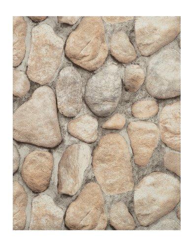 York Wallcoverings RN1064 Modern Rustic River Rock Wallpaper,Black .74