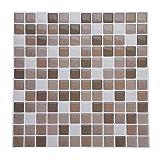 Raguso Mosaico Autoadhesivo Etiqueta de la Etiqueta del azulejo de la Pared para Cocina hogar Dormitorio Sala de Estar baño decoración Bricolaje(YJC0007)