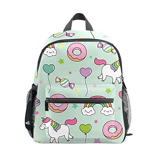 Backpack Student Bookbag for Kids Girls Boys,Unicorn Donut Casual Daypack School Travel Bag Organizer Gift