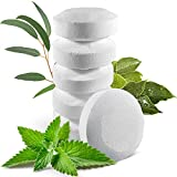 6 Organic Shower Steamers Vapor Tablets Extra Strong with Menthol Crystals, Camphor and Eucalyptus Essential Oils - Congestion and Sinus Relief for Your Own Home Spa Therapy - 2 oz/Each