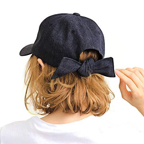 帽子 レディース キャップ ブランド 深め 黒 レディース帽子 バックリボンキャップ ワークキャップ 夏 14+ イチヨンプラス 14プラス icap0112-01-de