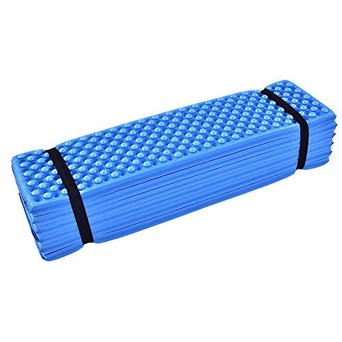 Foam slaapmat, opvouwbare strandtent slaapmat Outdoor waterdichte matras (blauw)