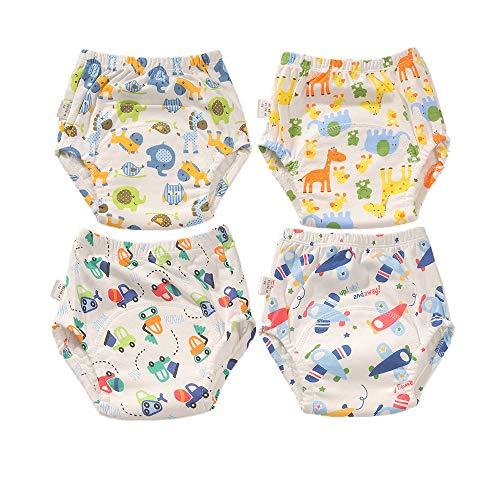 Morbuy Baby Lernwindel Trainerhosen Unterwäsche Windeln Windelhose zum Toilettentraining Töpfchentraining für Baby Kleinkind Töpfchen Klingelhose Trainer Windelhosen (100cm/14kg,Orange Giraffe)