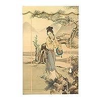 YILANJUN 竹カーテン 竹すだれカーテン 竹製スクリーン ナチュラル なローラーブラインド 広く使われている(中国の女性の写真シリーズ)