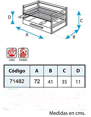 IMEX EL ZORRO 71482.0cassetto Barbecue con griglia, Nero, 72x 41x 35cm 2 spesavip