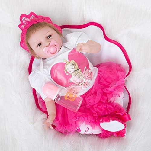 Hongge Reborn Baby Doll,Lebensechte Reborn Puppe Spielzeug Sieht real Newborn Puppe Kind Playmate 55cm