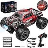 BEZGAR TM141 Toy Grade 1:14 Scale Remote Control Car, 4WD Top Speed 25 Km/h All Terrains Electric Toy Off Road RC Monster Vehicle Truck Crawler with Two Rechargeable Batteries for Boys Kids and Adults