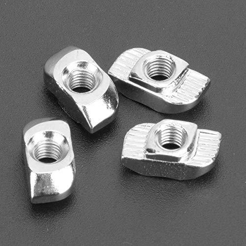 100pcs M4 / M5 / M6 Tuerca de tragamonedas T roscada T tuerca deslizante para perfiles de aluminio estándar europeos DUO ER (Size : M4)
