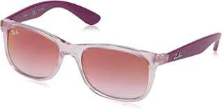RJ9062S Rectangular Kids Sunglasses, Transparent Pink/Red...