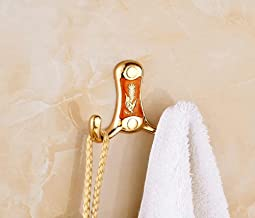 Robe Haken Dual Haken Metaal Goud Kleding Haak Handdoek Tas Caddy Hangers Deur Haak Wandmontage Badkamer Accessoire Kapsto...