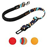 CSYY - Cinturón de seguridad universal para perros, para coche, cinturón de seguridad para perros con amortiguación elástica y fuerte mosquetón, ajustable