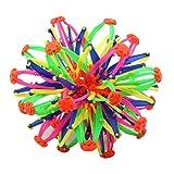 Hihey Hoberman Sphere Bola telescópica Estiramiento de plástico Bola Bola retráctil Juguete Bola de Juguete Colorida Divertida para niños
