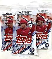Topps 2021 Series 1 Baseball Fat Pack (3 Packs)