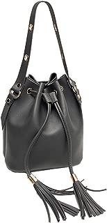 Kwok Women Fashion Candy Color One Shoulder Small Backpack Tassel Bucket Bag Messenger Shoulder Bags Leisure Backpack