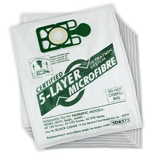 10 Pack Adatto a NUMATIC HENRY Hoover Aspirapolvere Doppio Strato Sacchetti di carta