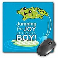 3drose 8x 8x 0.25インチマウスパッド、喜びのジャンプhaving a boy (MP 120313_ 1)