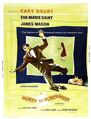 Posterazzi EVCMCDNOBYEC021 North by Northwest, U.S. Poster Art, from Left: Cary Grant, Eva Marie Saint, 1959 Photo Print, 8 x 10, Multi