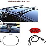 Barras para techo de coche de 110 cm para Kia Sorento 5p 2003, barras portaequipajes de acero y de regalo