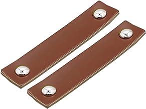 Lederen lade handvat meubels kast kast knoppen, Nordic keuken handgrepen moderne deurknoppen lederen koffer handvat - 2 stuks