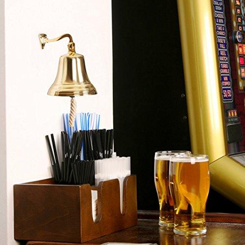 bar@drinkstuff Campana a muro in ottone dorato da fissare al muro 9 cm Taglia S, nel design tradizionale
