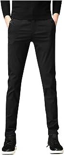 Xmiral Pantaloni del Vestito Uomo Moda Tethers Cinture Elastiche Piedi con Piccoli Casual