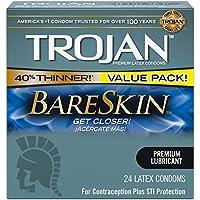 Trojan Sensitivity Bareskin 潤滑ラテックスコンドーム 48個