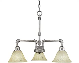 3-Light Chandelier with 7 in. Italian Marble Glass Shade