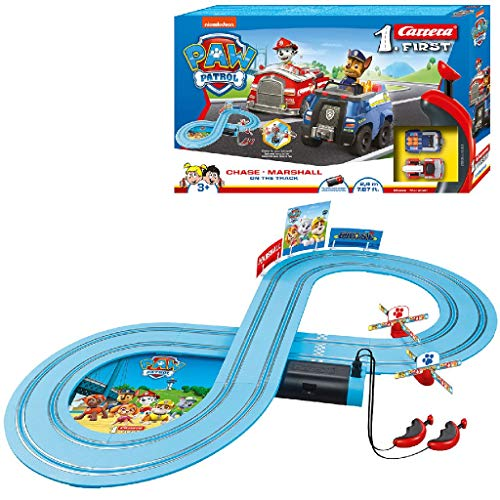 Carrera First Paw Patrol - On the Track - Pista Carrera per i più piccoli - Pista da corsa elettrica
