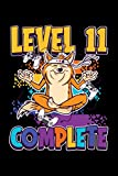 Level 11 Complete: A5 Liniertes Notizbuch auf 120 Seiten - Gaming Gamer Notizheft | Geschenkidee für Zocker, Gamer, Konsole und PC Spieler