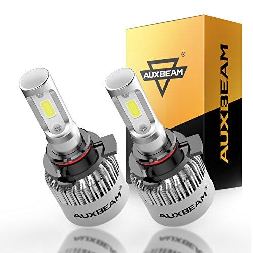 Auxbeam 9005 LED Headlights F-S2 Series with 2Pcs 9005 HB3 H10 9145 LED Headlight Bulbs Conversion Kits 72W 8000LM Super Bright COB Led Chips Fog Light Single Beam