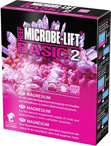 MICROBE-LIFT Basic 2 - Magnesium - (Qualitäts-Magnesiumzusatz für jedes Meerwasser Aquarium, Pulverform, auch verwenbar für die Balling-Methode, Korallen Versorgung) 500 g.